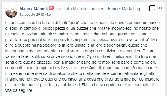 Manny Mameli - Funnel Marketing